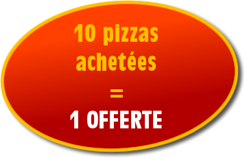 1 free pizza for 10 purchases