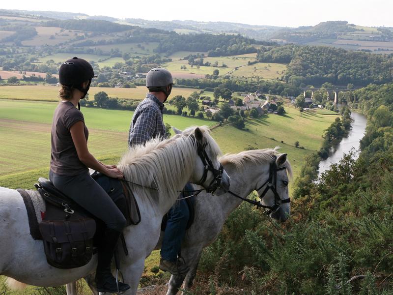 La Suisse Normande à cheval